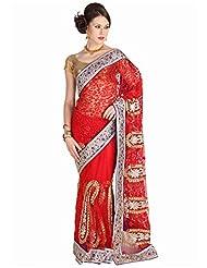 Mina Bazaar Net Saree With Blouse Piece - B00NSCPDRC