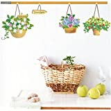 Decals Arts Three Generation Removable Basket Wall Sticker