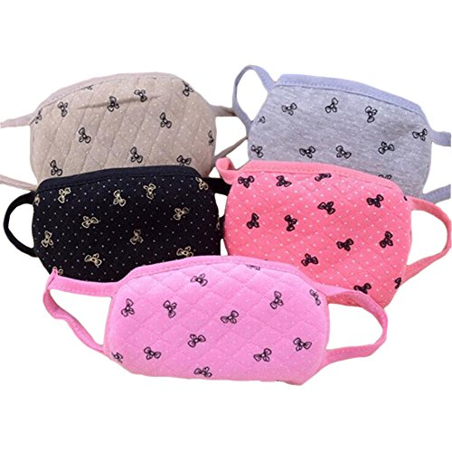 cute-6-pcs-butterfly-dot-cotton-face-mask-anti-dust-windproof-sports-cycling-healthy-warmer-mouth-ma