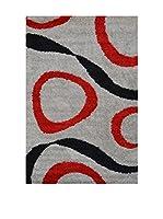 Special Carpets Alfombra Sensation (Gris / Rojo)