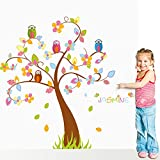 Beautiful Owl Tree Wall Decals For Baby Rooms Diy Animal Wall Stickers Home Decor Decoration Sticker