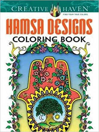 Creative Haven Hamsa Designs Coloring Book (Adult Coloring) written by Mary Agredo