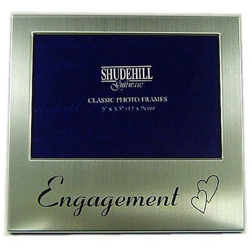 'Engagement' Photo Frame Silver colour 5 x 3.5