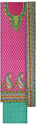 Kothari Suits Girls' Cotton Unstiched Dress Materials (KOTHARI_1005-E, Purple and Green)
