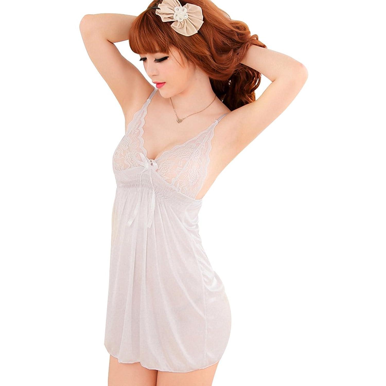 Deercon Frauen-reizvolle transparente W?sche-Kleid-Nachtw?sche Babydoll Sleepwear (wei?) günstig bestellen