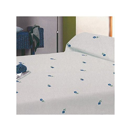 SABANALIA - Colcha de Pique Marga (Disponible en varios tamaños) - Cama 90, Azul