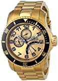 Invicta Mens 15343 Pro Diver Analog Display Japanese Quartz Gold Watch