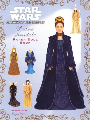 Padme Amidala Paper Doll Book Queen Amidala Coloring Pages
