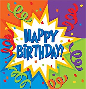 "Birthday Blast Plastic Tablecover 54"" X 108"""