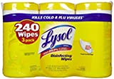 Lysol Disinfecting Wipes Value Pack, Lemon & Lime Blossom, 240 Wipes (3 Packs of 80 Wipes)