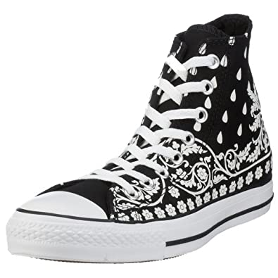 Converse all star adult bandana hi black white 105768 6 uk for Converse all star amazon