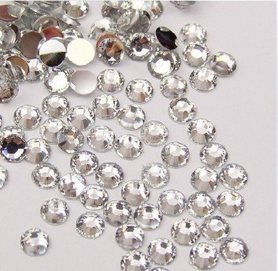 Beading Station 1440-Piece Flat Back Brilliant 14-Cut Round Rhinestones, 3mm-10ss, Clear
