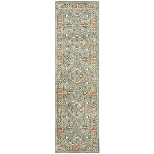 Safavieh Heritage Collection HG969A Handmade Blue Wool Area Rug, 2 feet 3 inches by 4 feet (2'3