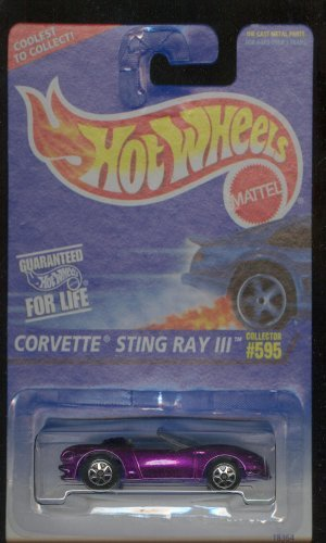 Hot Wheels 1995-595 PURPLE Corvette Sting Ray III 1:64 Scale