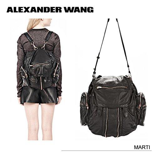 (アレキサンダーワン)Alexander Wang MARTI 2WAY バックパック・ショルダーバッグ Black/Rose Gold [並行輸入品]