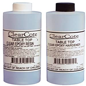 Clearcote 60005404 Table Top Epoxy Resin Kit Clear Epoxy