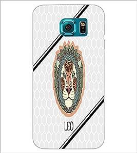 PrintDhaba Zodiac Leo D-4793 Back Case Cover for SAMSUNG GALAXY S6 EDGE (Multi-Coloured)