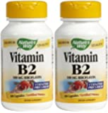 Nature's Way Vitamin B2, 100 Capsules (Pack of 2)