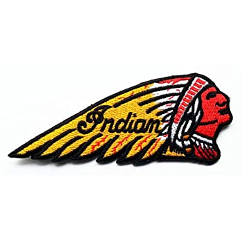 Indian Motorcycles Patches 11x4.5 Cm Sew/iron on Patch to Cloth, Jacket, Jean, Cap, T-shirt and Etc.