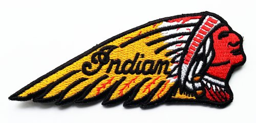 Indian Motorcycles Patches 11x4.5 Cm Sew/iron on Patch to Cloth, Jacket, Jean, Cap, T-shirt and Etc. 0