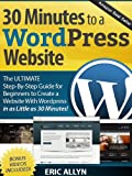 30 Minutes to a WordPress Website - The ULTIMATE Step-By-Step Guide for Beginners to Create a Website With WordPress in as Little as 30 Minutes!