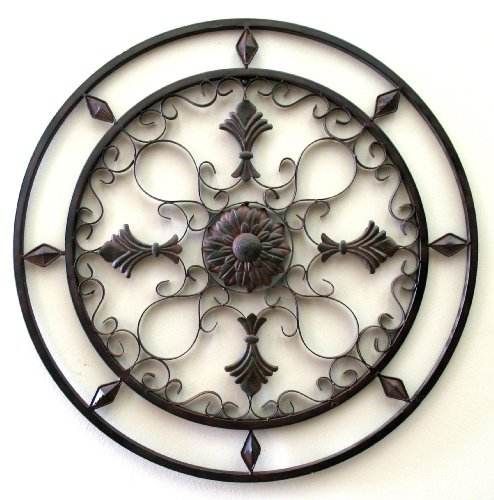 wrought iron wall deco round wrought iron wall decor