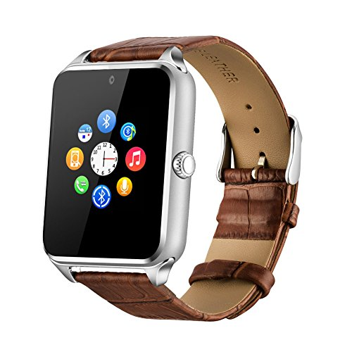 Fantime Bluetooth montre Smart Watch Phone, montre-bracelet téléphone Support de carte SIM SD pour Android téléphones intelligents