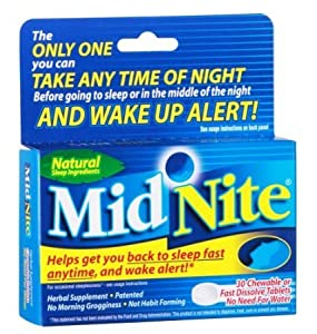 MidNite Natural Sleep Supplement, 30 Count Box