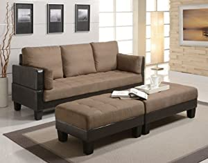 Amazon Fulton Contemporary Sofa Bed Group with 2 Ottomans CO Kitchen & Dining