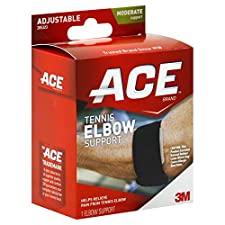 ACE Tennis Elbow Support, Adjustable, Moderate Support, 1 support