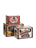 MANGORA Set Caja de Almacenamiento 3 Uds.