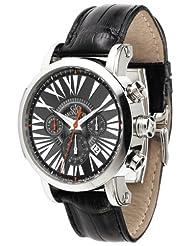 Gio Monaco Men's 264-A Maranello Automatic Black  Alligator Leather Chronograph Watch
