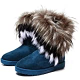 Zeagoo Women New Fashion Winter Snow Boots Ankle Boots Warm Fur Shoes