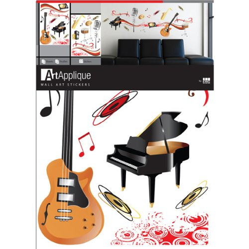 Music Instruments Musical Notes Wall Mural Stickers