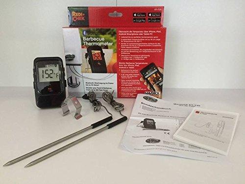 Maverick ET7-35-Termometro da cucina digitale wireless Bluetooth 4.0monitor fino a 4sonde contemporaneamente, Compatibile con tutti i telefoni IOS & Android e tablet-Ideale per barbecue, barbecue, grill, forno, carne e cibo