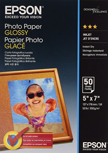 Epson Carta Fotografica Glossy, 13x18cm, 50 Fogli, Bianco
