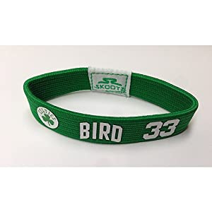 Boston Celtics NBA Larry Bird #33 Wristband L by Skootz