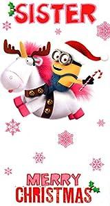 Despicable me minion merry christmas sister card amazon co uk toys
