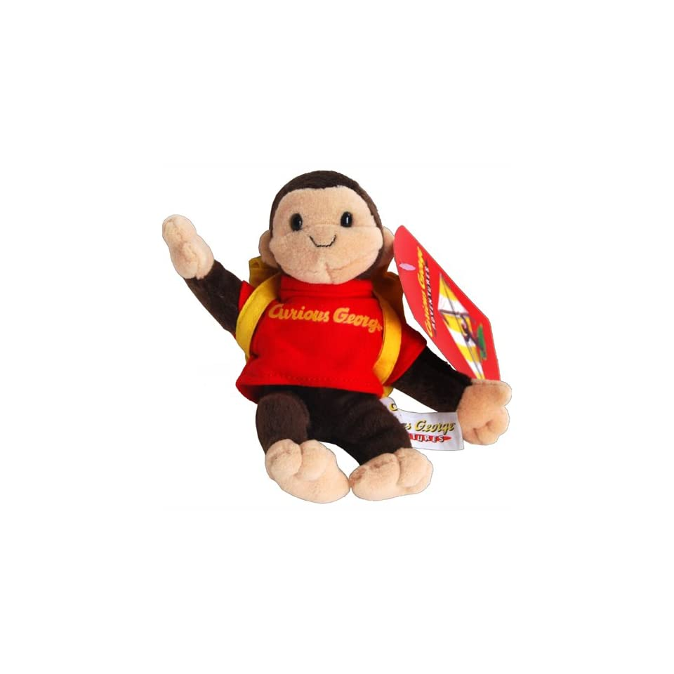 db90054562 Backpacking Curious George Monkey Bean Bag Plush Toy on PopScreen