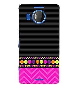 Colorful Zig Zag Design 3D Hard Polycarbonate Designer Back Case Cover for Nokia Lumia 950 XL :: Microsoft Lumia 950 XL