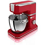 Swan Retro Stand Mixer with Bowl, 4.5 Litre, 1000 Watt, Red