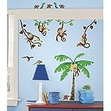 RoomMates RMK1676SCS Morrow Monkeys Peel & Stick Wall Decals