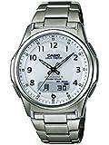 Casio Men's Quartz Watch with White Dial Analogue - Digital Display and Silver Titanium Bracelet WVA-M630TDE-7AER
