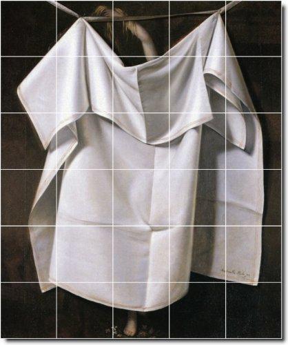 Raphaelle Peale Still Life cucina piastrelle, 4. 152,4x 182,9cm utilizzando (30) 12x 12piastrelle in ceramica.