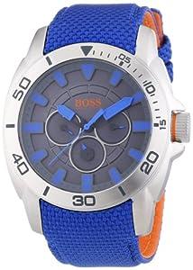 BOSS Orange Herren-Armbanduhr XL Shanghai Multieye Analog Quarz Textil 1513014
