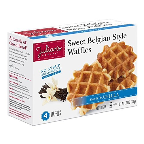 Fantastic Deal! JULIANS RECIPE Natural Waffle, Belgium Vanilla, 7.76 Ounce (Pack of 12)
