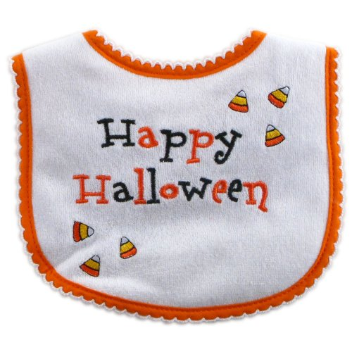Luvable Friends Halloween Embroidered Bib