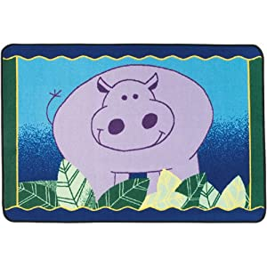 Happy Hippo Accent Rug Rectangle 3' x 4'6""