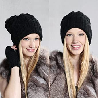 World Pride Spring Retro Oversized Slouch Ladies Warm Stretch Beanie Bobble Hat, Black