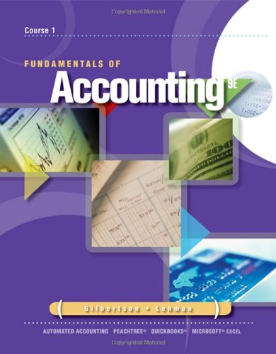 Fundamentals Of Accounting: Course 1 (Advantage)